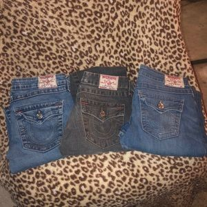 3pair of true religion jeans